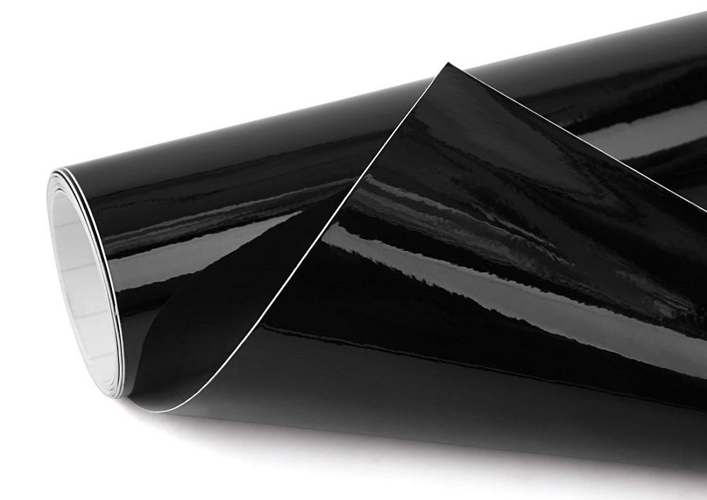 plakfolie hoogglans zwart