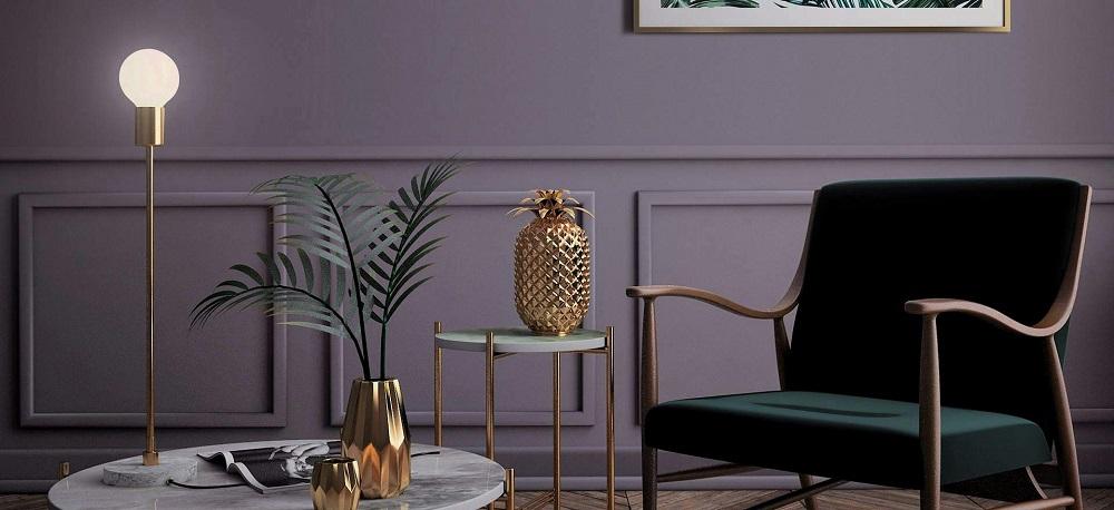 plakfolie paars lavendel woonkamer