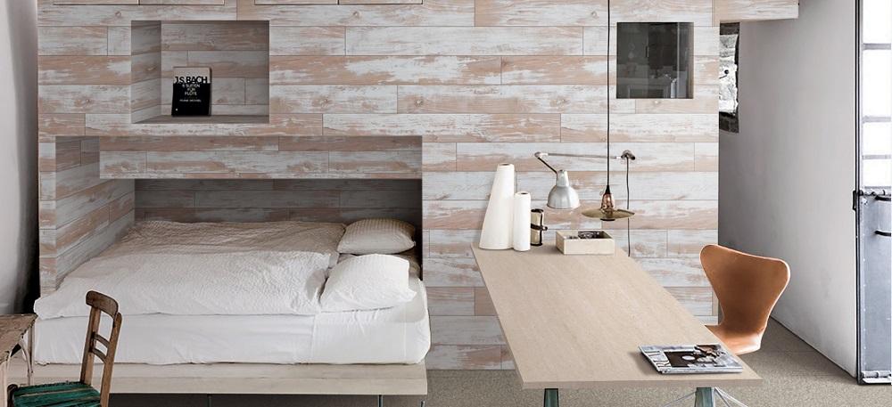 plakfolie vintage houten panelen