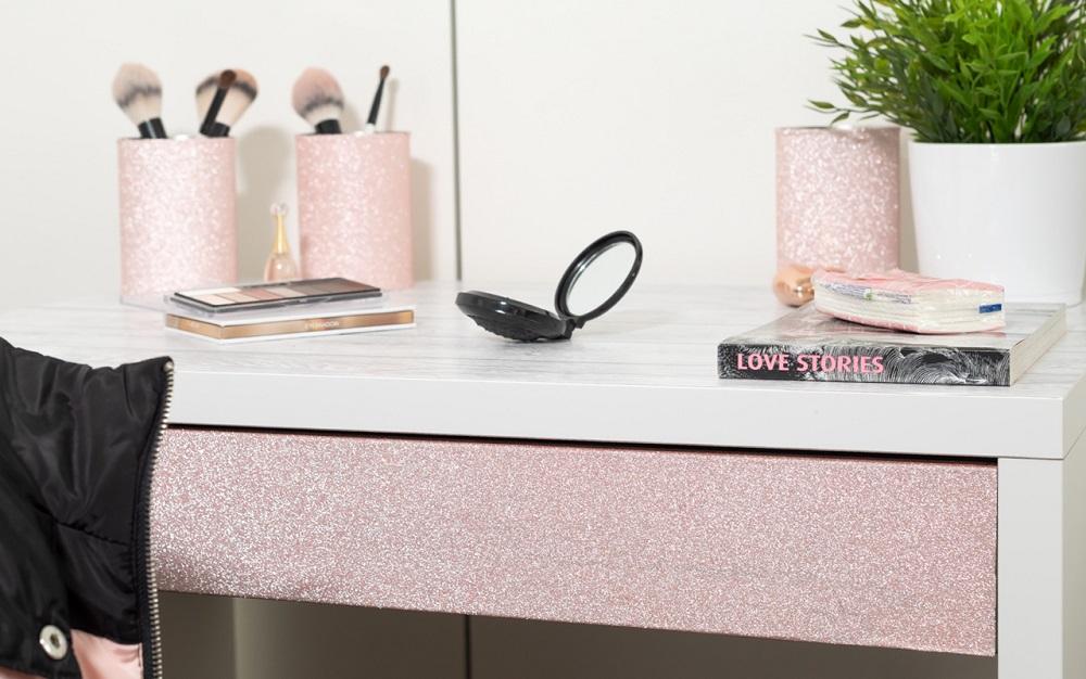 glitterfolie plakfolie glitters roze