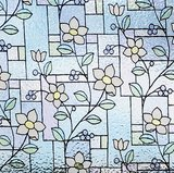 Lineafix statisch raamfolie glas in lood bloem_