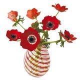 Raamsticker flat flowers anemonen rood_