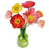 Raamsticker flat flowers klaprozen_