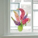 Raamsticker flat flowers Lupine_
