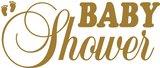 Tekststicker Babyshower goud 25x60 cm_