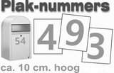 Huisnummer / container stickers Zilver RVS-look 10 CM_