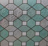 statisch raamfolie glas in lood smaragd