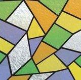 raamfolie glas mozaiek kleuren