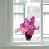 Raamsticker flat flowers orchidee_