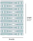 Statisch raamfolie maritiem vissen (90cm)_