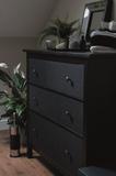 Glitterfolie zwart 45x150 cm_