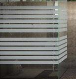 Statisch raamfolie office strepen (geschikt voor dubbel, HR+ en HR++ glas) (46cm)_