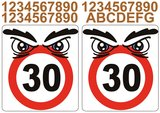 Kliko stickers snelheid 30 + denk aan onze kinderen_