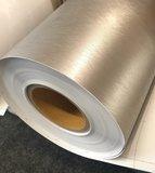 Plakfolie shimmering silver mat (122cm breed)_