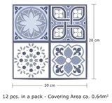 Tegelstickers Lisbon 12 stuks (20x20 cm)_