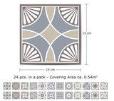 Tegelstickers Spaans kalksteen 24 stuks (15x15 cm)_