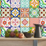 Tegelstickers klassiek Mediteraans kleurrijk 24 stuks (15x15 cm)_