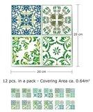 Tegelstickers Turkse mozaïek 12 stuks (20x20 cm)_