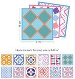 Tegelstickers  Classic Marokkaans kleurrijke mix 24 stuks (15x15 cm)_