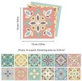 Spaanse Tegelstickers pastel Marbella 24 stuks (15x15 cm)_