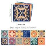 Mediterraanse Tegelstickers 24 stuks (15x15 cm)_