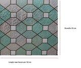 Statisch raamfolie glas in lood groen smaragd (45cm)_