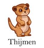 Geboortesticker Meerkat (met naam)_