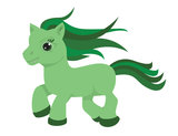 Geboortesticker Pony_