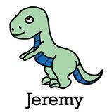 Geboortesticker Dino (met naam)_