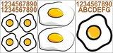 Kliko stickers gebakken ei_
