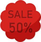 Etalage raamsticker Rood 50%_