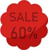 Etalage raamsticker Rood 60%_