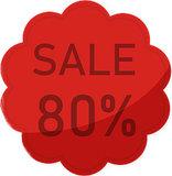 Etalage raamsticker Rood 80%_