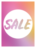 Etalage raamsticker Summer sale_