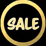 Etalage raamsticker Sale goud & zwart_