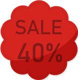 Etalage raamsticker Rood 40%_
