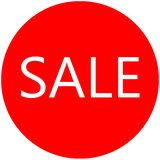 Etalage raamsticker Rood rond sale_