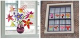 Raamsticker flat flowers veldboeket_