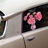 Raamsticker flat flowers dahlia_