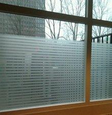 Breed raamfolie Structuur voor HR++ glas 90cm
