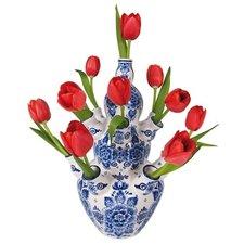 Raamsticker flat flowers delftsblauw