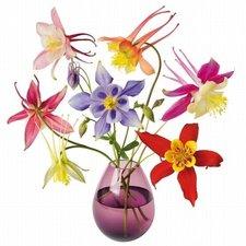 Raamsticker flat flowers mix boeket