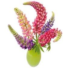 Raamsticker flat flowers Lupine