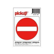 Pictogram sticker Verboden toegang