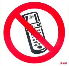 Pictogram sticker Verboden mobiele telefoon