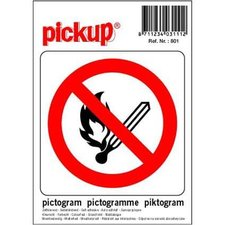 Pictogram sticker Vuur- vlamverbod