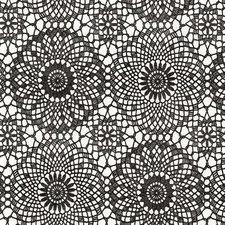 Plakfolie gehaakt patroon zwart (45cm)
