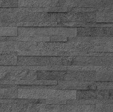 Steenstrip 3D met kleeflaag natuursteen antraciet