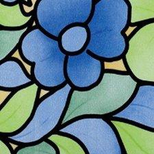 Raamfolie bloemen blauw (45cm)