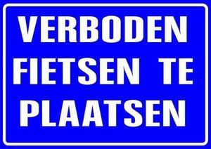 XL Sticker Verboden fietsen te plaatsen